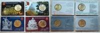 4 x 50 Cent 2010 - 2013 Vatikan Vatikan 4 x 50 Cent Coincard Nr. 1 bis ... 31,95 EUR  zzgl. 3,95 EUR Versand