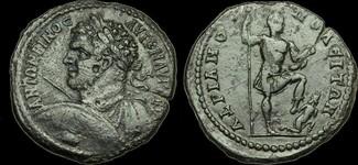 GREEK-IMPERIAL IM-KDWJ - CARACALLA - Thrace, Hadrianopolis, AE28, ca.211-7AD. RARE.