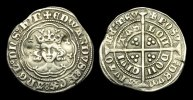 ENGLISH HAMMERED  ED-FUTW - EDWARD III - 4th Iss. Treaty Halfgroat, 1361-9AD.