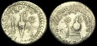 ROMAN IMPERATORIAL Denarius 40BC  RE-QWTF - MARK ANTONY + L.MUNATIUS PLA... 1033,34 EUR  zzgl. 19,50 EUR Versand