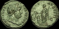 ROMAN IMPERIAL OR-PTWQ - HADRIAN - AE As., ca.124-8AD.          NICE ... 255,67 EUR  zzgl. 19,18 EUR Versand