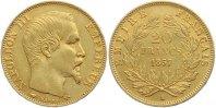 20 Francs Gold 1857  A Frankreich Napoleon III. 1852-1870. Sehr schön  250,00 EUR