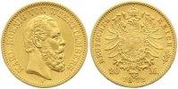 20 Mark Gold 1872  F Württemberg Karl 1864-1891. Sehr schön - vorzüglic... 435,00 EUR