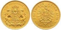20 Mark Gold 1876  J Hamburg  Winz. Randfehler, fast vorzüglich  395,00 EUR
