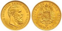 10 Mark Gold 1888  A Preußen Friedrich III. 1888. Fast Stempelglanz  375,00 EUR