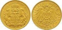 10 Mark Gold 1890  J Hamburg  Sehr schön - vorzüglich  235,00 EUR