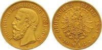 10 Mark Gold 1881  G Baden Friedrich I. 1856-1907. Sehr schön +  245,00 EUR  zzgl. 7,00 EUR Versand