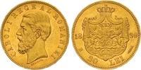 20 Lei Gold 1890 Rumänien Carol I. 1866-1914. Vorzüglich +  425,00 EUR  zzgl. 7,00 EUR Versand