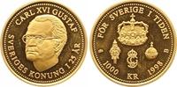 1000 Kronen Gold 1998 Schweden Carl XVI. Gustav seit 1973. Polierte Pla... 225,00 EUR  zzgl. 7,00 EUR Versand