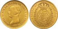 100 Reales Gold 1850  CL Spanien Isabel II. 1833-1868. Vorzüglich +  725,00 EUR  zzgl. 7,00 EUR Versand