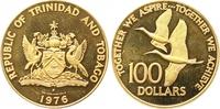 100 Dollars Gold 1976 Trinidad und Tobago  Polierte Platte  240,00 EUR  zzgl. 7,00 EUR Versand