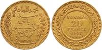 20 Francs Gold 1903 Tunesien Französisches Protektorat. Sehr schön +  245,00 EUR  zzgl. 7,00 EUR Versand