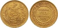 20 Francs Gold 1899 Tunesien Französisches Protektorat. Sehr schön - vo... 245,00 EUR  zzgl. 7,00 EUR Versand