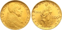 100 Lire Gold 1952 Italien-Vatikan Pio XII. 1939-1958. Fast Stempelglanz  825,00 EUR  zzgl. 7,00 EUR Versand