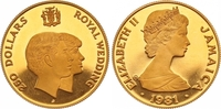 250 Dollars Gold 1981 Jamaika Elizabeth seit 1952. Polierte Platte  450,00 EUR  zzgl. 7,00 EUR Versand