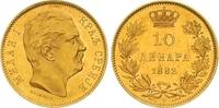 10 Dinara Gold 1882 Jugoslawien-Serbien Michail Obrenovich IV. (Milan I... 445,00 EUR  zzgl. 7,00 EUR Versand