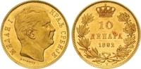 10 Dinara Gold 1882 Jugoslawien-Serbien Michail Obrenovich IV. (Milan I... 550,00 EUR  zzgl. 7,00 EUR Versand