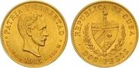 2 Pesos Gold 1916 Kuba Republik. Fast Stempelglanz  325,00 EUR  zzgl. 7,00 EUR Versand