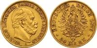 20 Mark Gold 1876  A Preußen Wilhelm I. 1861-1888. Sehr schön +  300,00 EUR  zzgl. 7,00 EUR Versand