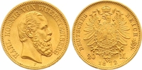 20 Mark Gold 1872  F Württemberg Karl 1864-1891. Vorzüglich +  575,00 EUR  zzgl. 7,00 EUR Versand