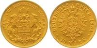 20 Mark Gold 1884  J Hamburg  Vorzüglich  475,00 EUR  zzgl. 7,00 EUR Versand