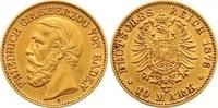 10 Mark Gold 1876  G Baden Friedrich I. 1856-1907. Sehr schön +  265,00 EUR  zzgl. 7,00 EUR Versand