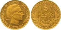 5 Pesos Gold 1930 Uruguay Republik. Seit 1830. Vorzüglich +  585,00 EUR  zzgl. 7,00 EUR Versand