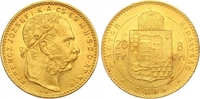 8 Gulden = 20 Francs Gold 1889  KB Haus Habsburg Franz Joseph I. 1848-1... 425,00 EUR  zzgl. 7,00 EUR Versand
