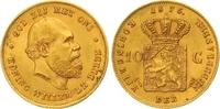 10 Gulden Gold 1875 Niederlande-Königreich Wilhelm III. 1849-1890. Vorz... 260,00 EUR  zzgl. 7,00 EUR Versand