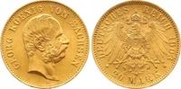 20 Mark Gold 1903  E Sachsen Georg 1902-1904. Vorzüglich - Stempelglanz  800,00 EUR  zzgl. 7,00 EUR Versand
