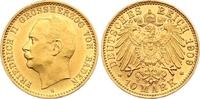 10 Mark Gold 1909  G Baden Friedrich II. 1907-1918. Winziger Randfehler... 1350,00 EUR kostenloser Versand