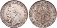 2 Mark 1876  G Baden Friedrich I. 1856-1907. Prachtexemplar. Schöne Pat... 3200,00 EUR kostenloser Versand