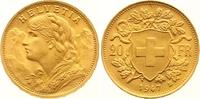 20 Franken Gold 1947  B Schweiz-Eidgenossenschaft  Vorzüglich - Stempel... 265,00 EUR  zzgl. 7,00 EUR Versand