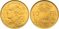 10 Franken Gold 1922  B Schweiz-Eidgenossenschaft  Vorzüglich - Stempel... 165,00 EUR  zzgl. 7,00 EUR Versand