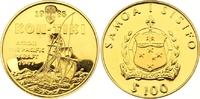 100 Dollars Gold 1988 West Samoa  Winzige Kratzer, Polierte Platte  300,00 EUR  zzgl. 7,00 EUR Versand