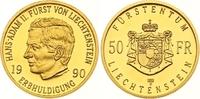 50 Franken Gold 1990 Liechtenstein Hans Adam II. seit 1990. Polierte Pl... 425,00 EUR  zzgl. 7,00 EUR Versand