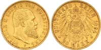 20 Mark Gold 1894  F Württemberg Wilhelm II. 1891-1918. Sehr schön - vo... 345,00 EUR  zzgl. 7,00 EUR Versand