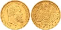 10 Mark Gold 1904  F Württemberg Wilhelm II. 1891-1918. Vorzüglich  275,00 EUR  zzgl. 7,00 EUR Versand