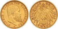 10 Mark Gold 1909  F Württemberg Wilhelm II. 1891-1918. Fast vorzüglich  265,00 EUR  zzgl. 7,00 EUR Versand