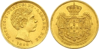 2000 Reis Gold 1855 Portugal Pedro V. 1853-1861. Vorzüglich +  450,00 EUR  zzgl. 7,00 EUR Versand