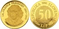 50 Lip Gold 1990 Jugoslawien-Slowenien  Winzige Kratzer, Polierte Platte  475,00 EUR  zzgl. 7,00 EUR Versand