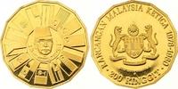 200 Ringgit Gold 1976 Malaysia  Winzige Kratzer, Polierte Platte  435,00 EUR  zzgl. 7,00 EUR Versand