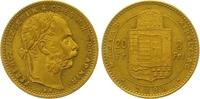 8 Gulden = 20 Francs Gold 1888  KB Haus Habsburg Franz Joseph I. 1848-1... 345,00 EUR  zzgl. 7,00 EUR Versand