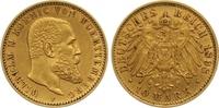 10 Mark Gold 1898  F Württemberg Wilhelm II. 1891-1918. Sehr schön - vo... 265,00 EUR  zzgl. 7,00 EUR Versand