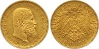 10 Mark Gold 1905  F Württemberg Wilhelm II. 1891-1918. Winziger Randfe... 265,00 EUR  zzgl. 7,00 EUR Versand