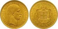 20 Drachmen Gold 1884 Griechenland Georg I. 1863-1913. Vorzüglich +  365,00 EUR  zzgl. 7,00 EUR Versand