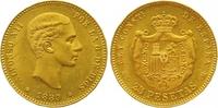 25 Pesetas Gold 1880 Spanien Alfonso XII. 1874-1885. Vorzüglich +  365,00 EUR  zzgl. 7,00 EUR Versand