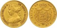 4 Escudos Gold 1865 Spanien Isabel II. 1833-1868. Vorzüglich  195,00 EUR  zzgl. 7,00 EUR Versand