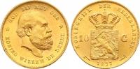 10 Gulden Gold 1877 Niederlande-Königreich Wilhelm III. 1849-1890. Stem... 315,00 EUR  zzgl. 7,00 EUR Versand
