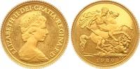 1/2 Sovereign Gold 1980 Großbritannien Elizabeth II. Seit 1952. Poliert... 175,00 EUR  zzgl. 7,00 EUR Versand